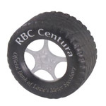 logoed Tire Shaped Stress Reliever