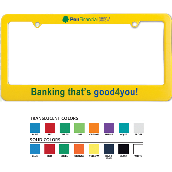 License Plate Frames - Lynmar.com Promotional Products