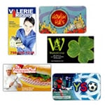 logoed Business Card Magnets